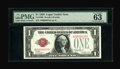 Small Size:Legal Tender Notes, Fr. 1500 $1 1928 Legal Tender Note. PMG Choice Uncirculated 63 EPQ.. Serial Number 16. ...