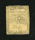 Colonial Notes:Continental Congress Issues, Continental Currency February 17, 1776 $1/2 Fine. This note has twovignettes associated with the beginning of our country. ...