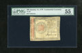 Colonial Notes:Continental Congress Issues, Continental Currency January 14, 1779 $60 PMG About Uncirculated55. This note barely circulated and its serial number has f...