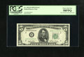 Error Notes:Obstruction Errors, Fr. 1961-B $5 1950 Federal Reserve Note. PCGS Choice About New58PPQ.. A hole punch circle paper fragment made its way throu...