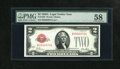 Small Size:Legal Tender Notes, Fr. 1502 $2 1928A Legal Tender Note. PMG Choice About Unc 58.. This is the second scarcest $2 Legal....