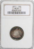 Seated Quarters: , 1877 25C MS61 NGC. NGC Census: (12/250). PCGS Population (10/257).Mintage: 10,911,710. Numismedia Wsl. Price for NGC/PCGS ...