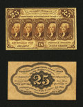 Fractional Currency:First Issue, Fr. 1282SP 25¢ First Issue Narrow Margin Pair About New.... (Total: 2 notes)