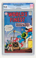 Silver Age (1956-1969):Superhero, World's Finest Comics #132 (DC, 1963) CGC NM/MT 9.8 Off-white to white pages....