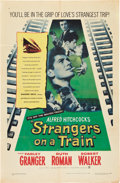 """Movie Posters:Hitchcock, Strangers on a Train (Warner Brothers, 1951). One Sheet (27"""" X41"""").. ..."""