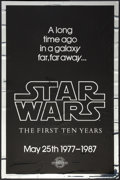 """Movie Posters:Science Fiction, Star Wars (20th Century Fox, R-1987). Mylar One Sheet (27"""" X 41"""") 10th Anniversary Style A. Science Fiction.. ..."""