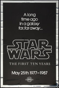 "Star Wars (20th Century Fox, R-1987). Mylar One Sheet (27"" X 41"") 10th Anniversary Style A. Science Fiction..."