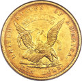 Territorial Gold, 1852 $10 Humbert Ten Dollar AU58 NGC....