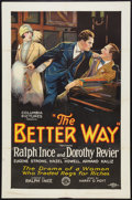 "Movie Posters:Comedy, The Better Way (Columbia, 1926). One Sheet (27"" X 41"") Style B.Comedy.. ..."