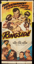 "Movie Posters:Sports, Ringside (Lippert, 1949). Three Sheet (41"" X 81""). Sports.. ..."