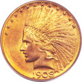 Indian Eagles, 1908-S $10 MS65 PCGS....