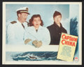 "Movie Posters:Adventure, Captain China (Paramount, 1950). Lobby Card Set of 8 (11"" X 14"").Adventure.. ... (Total: 8 Items)"