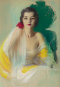Pin-up and Glamour Art, ROLF ARMSTRONG (American, 1889-1960). A Challenge to Admiration,calendar print illustration, c. 1926. Pastel on board. ...
