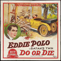 """Movie Posters:Serial, Do or Die (Universal, 1921). Six Sheet (81"""" X 81"""") Episode 11 -- """"Satan's Twin."""" Serial.. ..."""