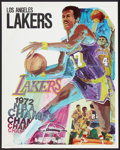 """Movie Posters:Sports, L.A. Lakers Basketball (L.A. Lakers, 1972). Posters (2) (23"""" X 23""""). Sports.. ... (Total: 2 Items)"""