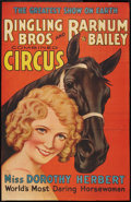 """Movie Posters:Miscellaneous, Circus Poster Lot (Ringling Brothers and Barnum & Bailey, 1934 & 1905). Poster (25"""" X 39"""") and Program (11"""" X 16""""). Miscella... (Total: 2 Items)"""