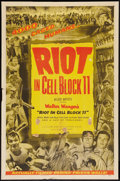 "Movie Posters:Drama, Riot in Cell Block 11 (Allied Artists, 1954). One Sheet (27"" X 41"") and Lobby Card (11"" X 14""). Drama.. ... (Total: 2 Items)"