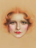 Pin-up and Glamour Art, CHARLES GATES SHELDON (American, 1889-1960). Clara Bow.Pastel on board. 25 x 19 in.. Signed lower right. ...