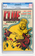 Golden Age (1938-1955):Miscellaneous, Clue Comics #8 Pennsylvania pedigree (Hillman Publications, 1944) CGC NM- 9.2 Off-white to white pages....