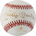 Baseball Collectibles:Balls, Mickey Mantle Signed Baseball....