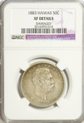 Coins of Hawaii, 1883 50C Hawaii Half Dollar--Damaged, Damaged--NCS. XF40 Details.NGC Census: (18/282). PCGS Population (46/423). Mintage: ...