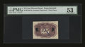 Fractional Currency:Second Issue, Milton 2E25R.2a 25¢ Second Issue Experimental PMG Choice About Uncirculated 53....