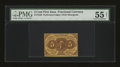Fractional Currency:First Issue, Fr. 1228 5c First Issue PMG About Uncirculated 55 Net....
