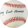 Autographs:Baseballs, 1970's Earl Averill Single Signed Baseball....