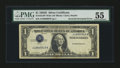 Error Notes:Inverted Third Printings, Fr. 1613 $1 1935D Silver Certificate. PMG About Uncirculated 55....