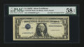Error Notes:Inverted Third Printings, Fr. 1613 $1 1935D Silver Certificate. PMG Choice About Unc 58EPQ....
