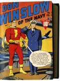 Golden Age (1938-1955):War, Don Winslow of the Navy File Copies #1-10 Bound Volume (Fawcett, 1943)....