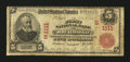 National Bank Notes:Virginia, Richmond, VA - $5 1902 Red Seal Fr. 587 The First NB Ch. # (S)1111....