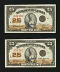 Canadian Currency: , DC-24c 25¢ 1923 Two Consecutive Examples. ... (Total: 2 notes)