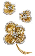 Estate Jewelry:Suites, Diamond, Platinum, Gold Jewelry Suite, French. ... (Total: 3 Items)