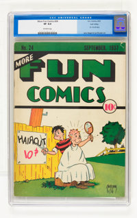 More Fun Comics #24 Lost Valley pedigree (DC, 1937) CGC VF 8.0 Off-white pages