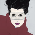 Paintings, PATRICK NAGEL (American, 1945-1984). Brooke, Playboy illustration. Acrylic on canvas. 29.5 x 29.5 in.. Signed lower righ...