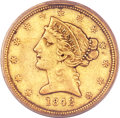 Liberty Half Eagles, 1842-C $5 Small Date XF40 PCGS. CAC....