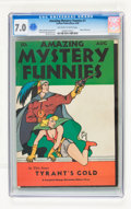 Golden Age (1938-1955):Science Fiction, Amazing Mystery Funnies V1#1 (Centaur, 1938) CGC FN/VF 7.0Off-white to white pages....