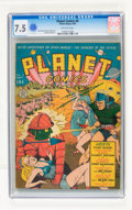 Golden Age (1938-1955):Science Fiction, Planet Comics #8 (Fiction House, 1940) CGC VF- 7.5 Off-whitepages....