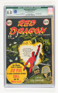 Red Dragon Comics #6 (Street & Smith, 1943) CGC Qualified VF 8.0 Cream to off-white pages