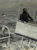Mainstream Illustration, ANTON OTTO FISCHER (American, 1882-1962). Captain at Sea.Oil on canvas. 27.5 x 20.5 in.. Signed lower left. ...