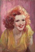 Mainstream Illustration, ALEX LUDERS (American, 20th Century). Call Her Savage , ClaraBow movie poster illustration, 1932. Oil on board. 21 x 14...