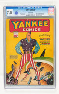 Golden Age (1938-1955):Superhero, Yankee Comics #1 (Chesler, 1941) CGC FN/VF 7.0 Off-white pages....