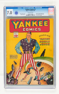 Yankee Comics #1 (Chesler, 1941) CGC FN/VF 7.0 Off-white pages
