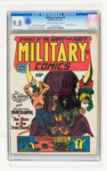 Golden Age (1938-1955):War, Military Comics #9 (Quality, 1942) CGC VF/NM 9.0 Off-white to whitepages....