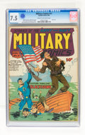 Golden Age (1938-1955):War, Military Comics #11 (Quality, 1942) CGC VF- 7.5 Cream to off-white pages....