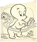 Original Comic Art:Covers, Warren Kremer The Friendly Ghost Casper #24 Cover OriginalArt (Harvey, 1960)....