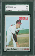 Baseball Cards:Singles (1970-Now), 1970 Topps Jim Palmer #449 SGC 96 Mint 9....
