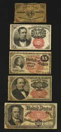 Fractional Currency:Fifth Issue, Five Fractional Types and Denominations.... (Total: 5 notes)