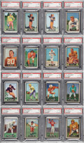 Football Collectibles:Uniforms, 1951 Topps Magic Football PSA Graded Cards Lot of 16....